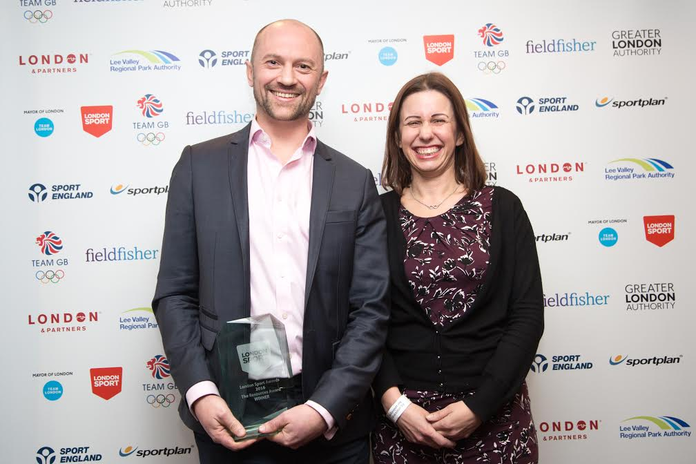 SportInspired partnership with UBS won the 2016 London Sport Resources Award